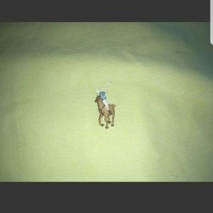 3XB YELLOW RALPH LAUREN CLASSIC SHIRT PONY GOLF